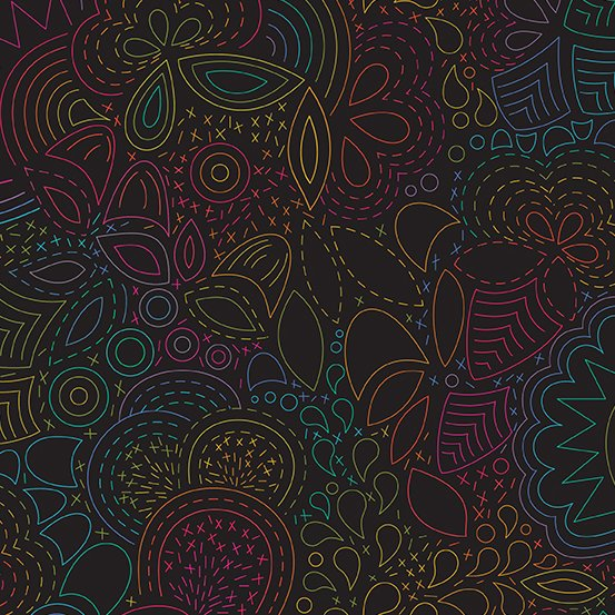 Art Theory - Rainbow Stitched - Night