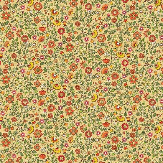Bloom - Floral Scroll - Brown