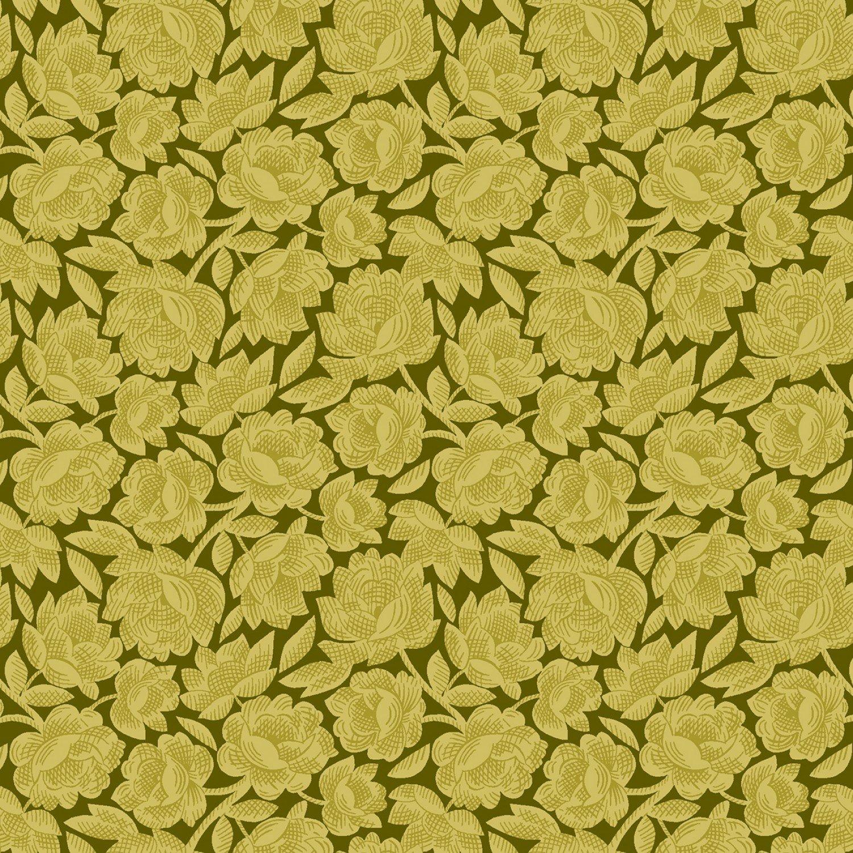 Gratitude and Grace - Green Vintage Floral