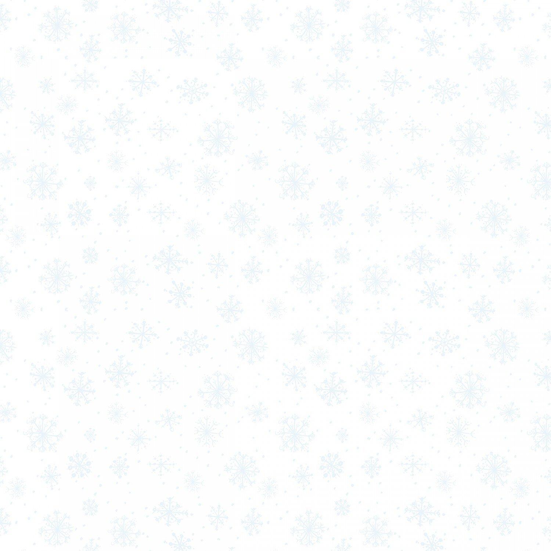 Friendly Gathering - White on White Snowflake