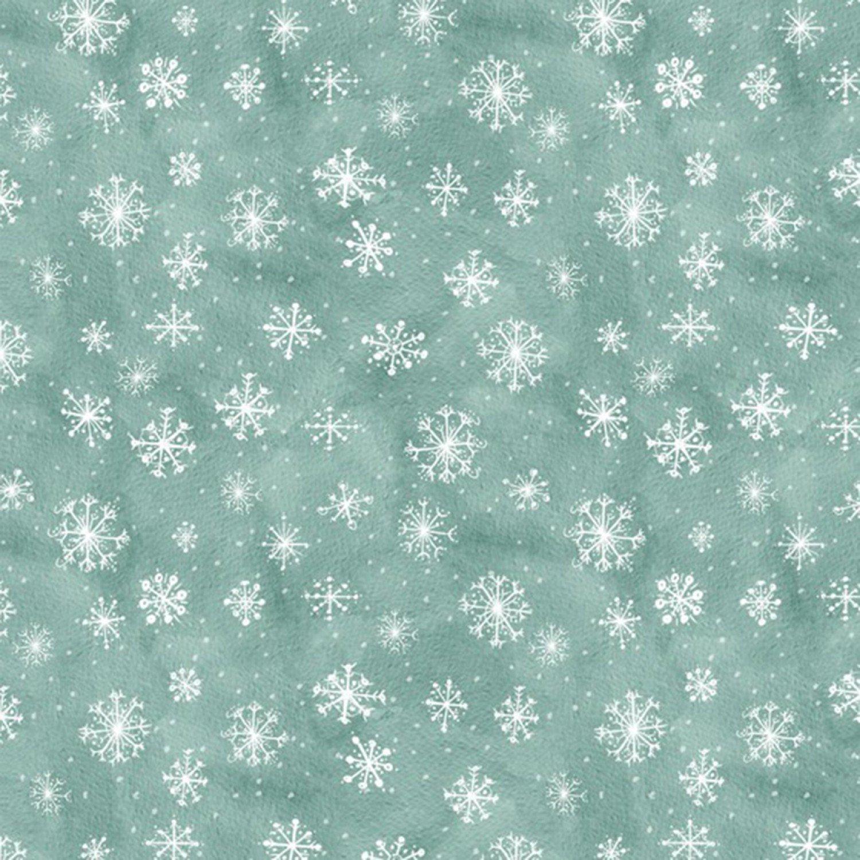 Friendly Gathering - Teal Snowflake