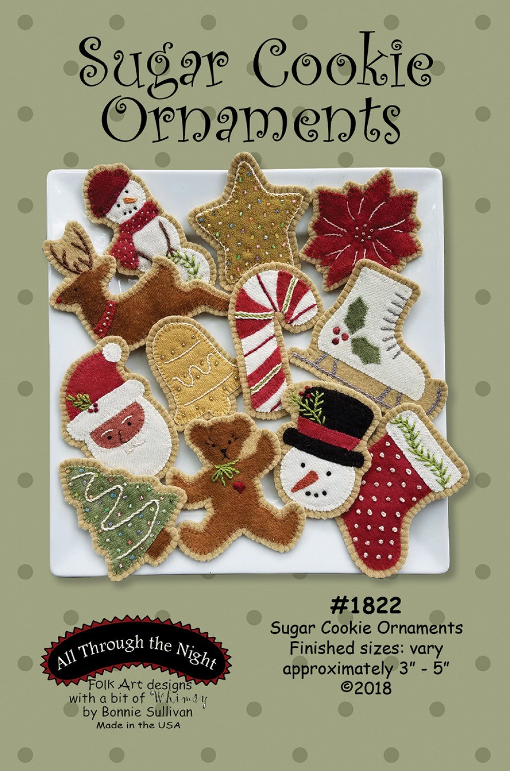 Sugar Cookie Ornaments Wool Kit