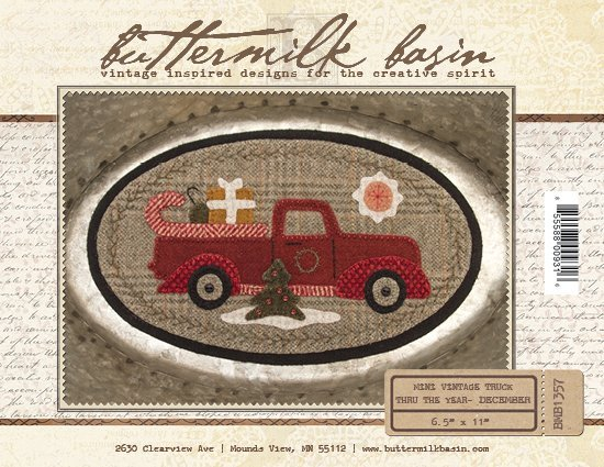 Mini Vintage Truck Through the Year - December (Pattern)