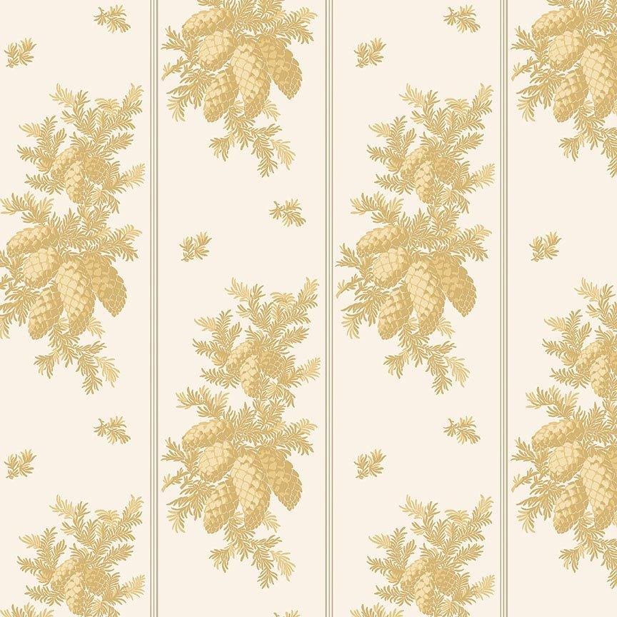 Christmas Rose - Pinecone Stripe Gold