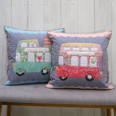 Bus About Cushion Pattern