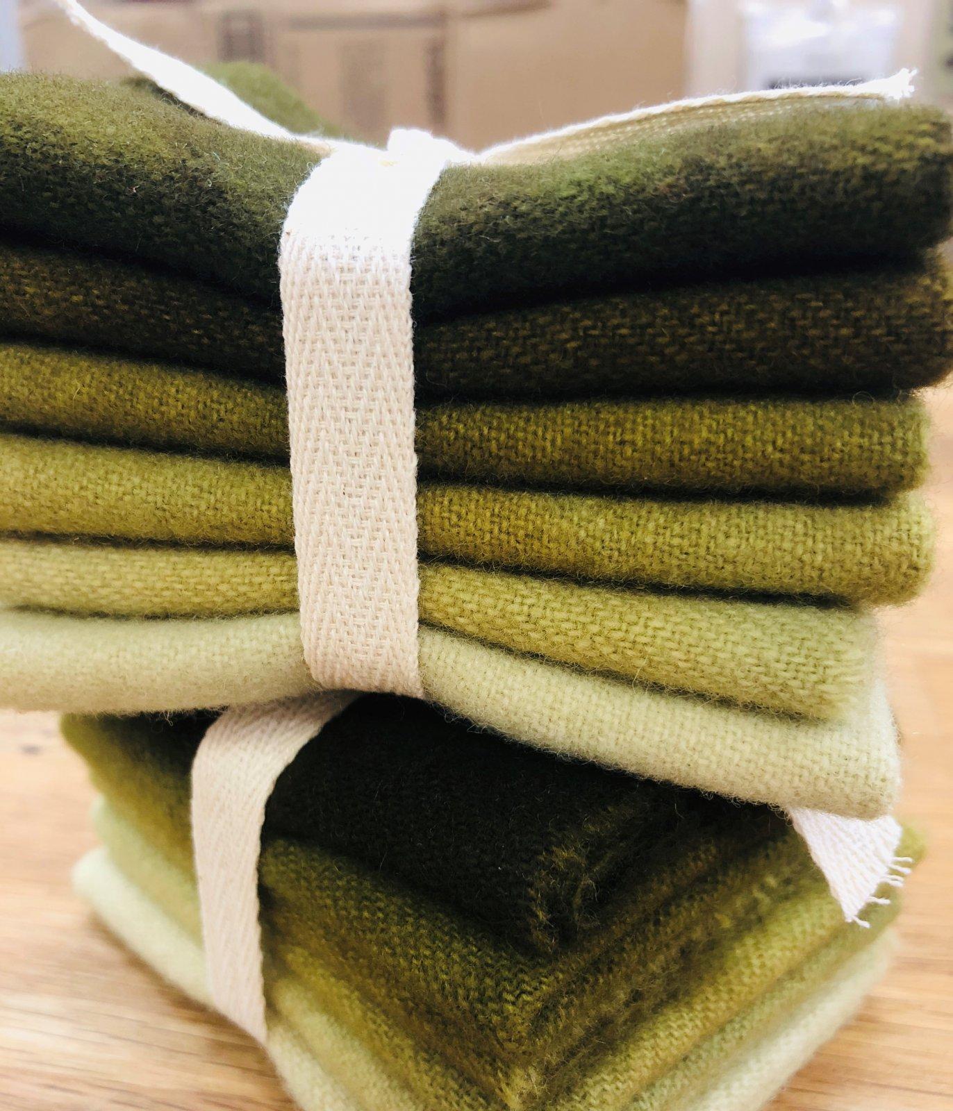 Deep Moss Wool Bundle