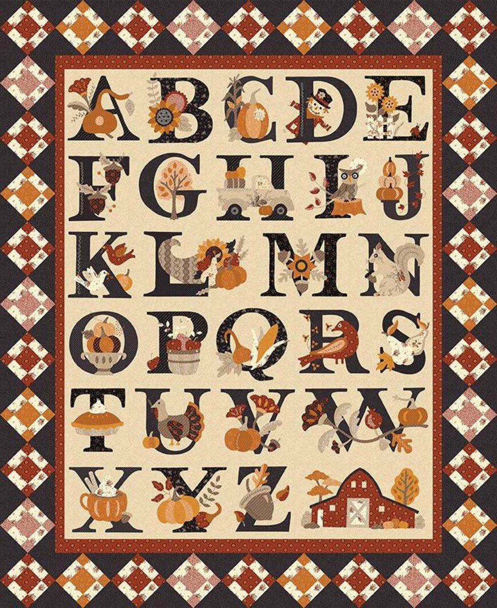 Fall Alphabet Quilt Kit