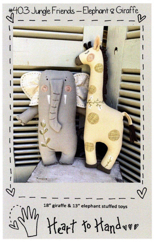 Jungle Friends - Elephant and Giraffe