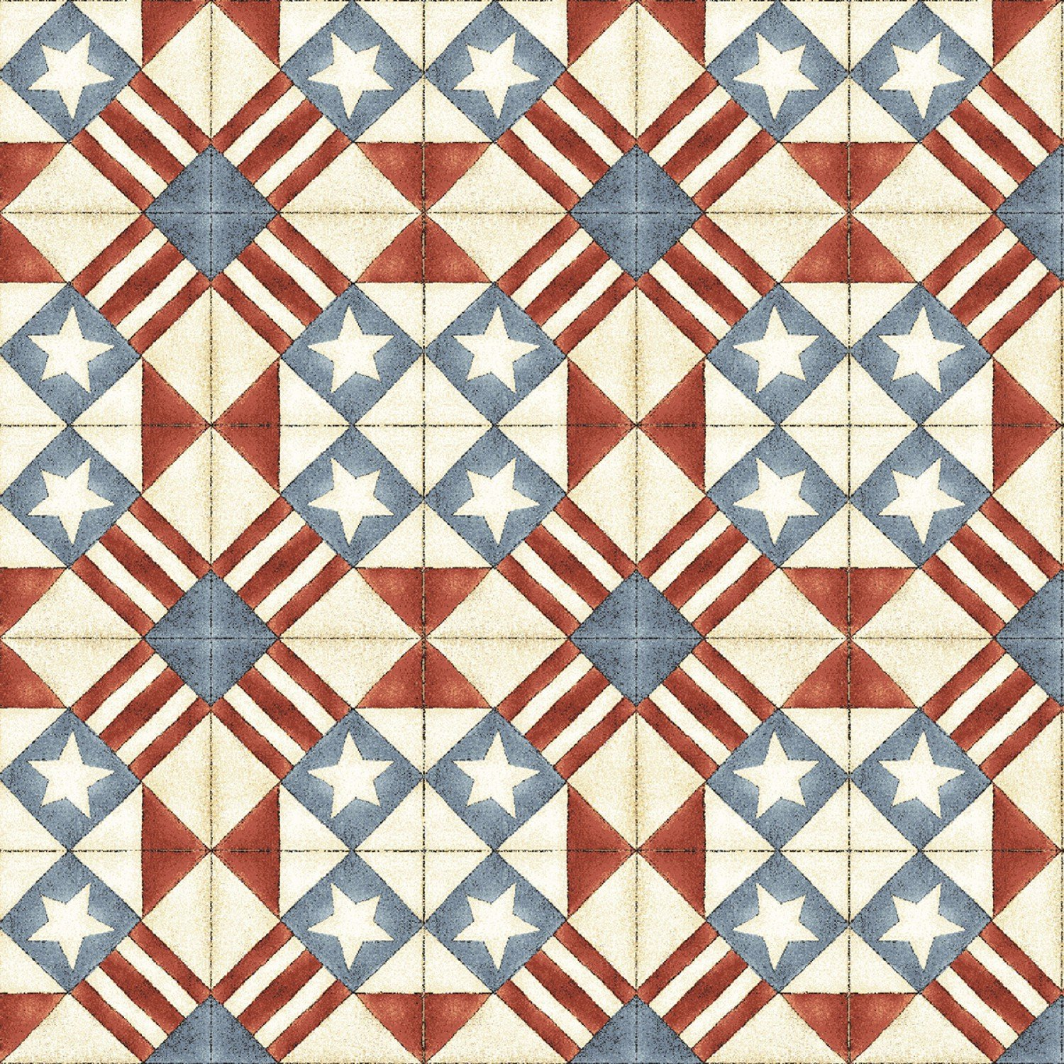 Let Freedom Fly - Red/Blue Geometric
