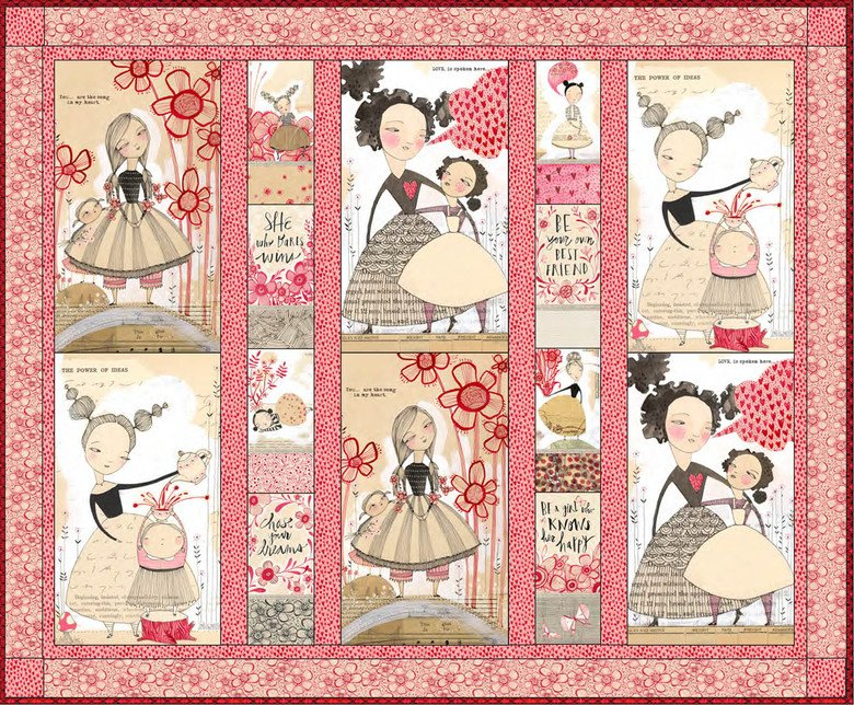 Love is Spoken Here Quilt Kit