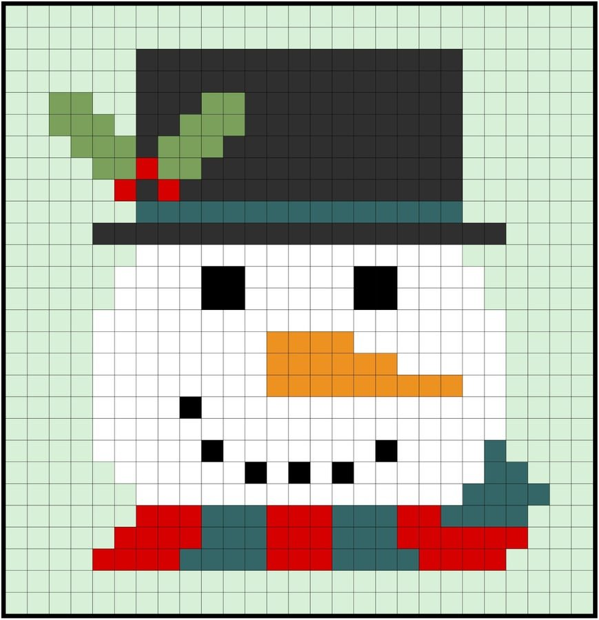 Mr. Frosty Easy Piecing Grid Kit