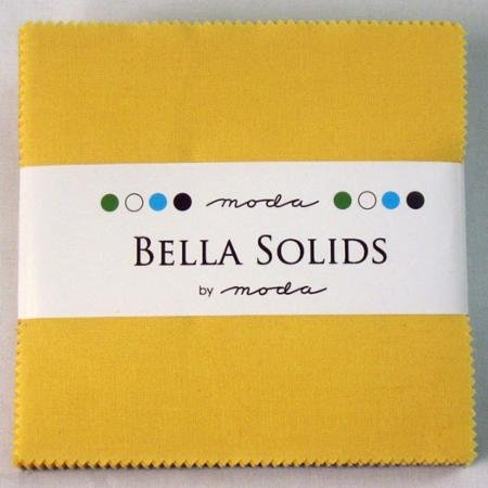 Bella Solids Charm Pack - 30's Yellow