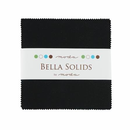 Bella Solids Charm Pack - Black