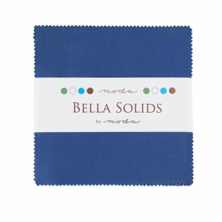 Bella Solids Charm Pack - Blue