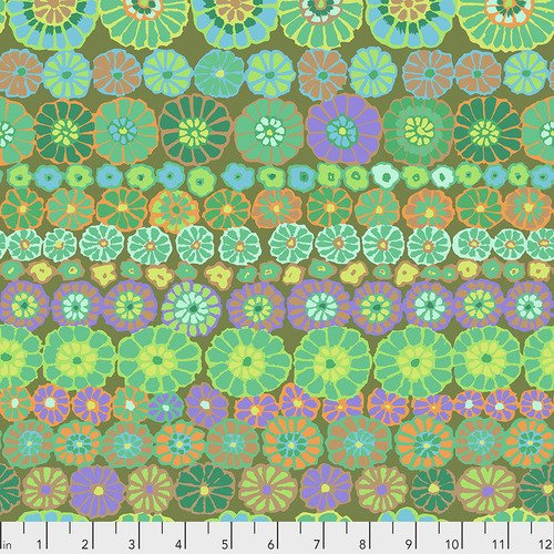Kaffe Fassett Collective Fall 2018 - Row Flowers - Green