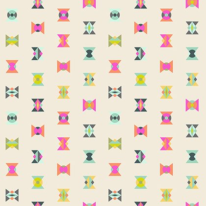 Tula Pink - Spirit Animal - Arrowheads - Electric Sky