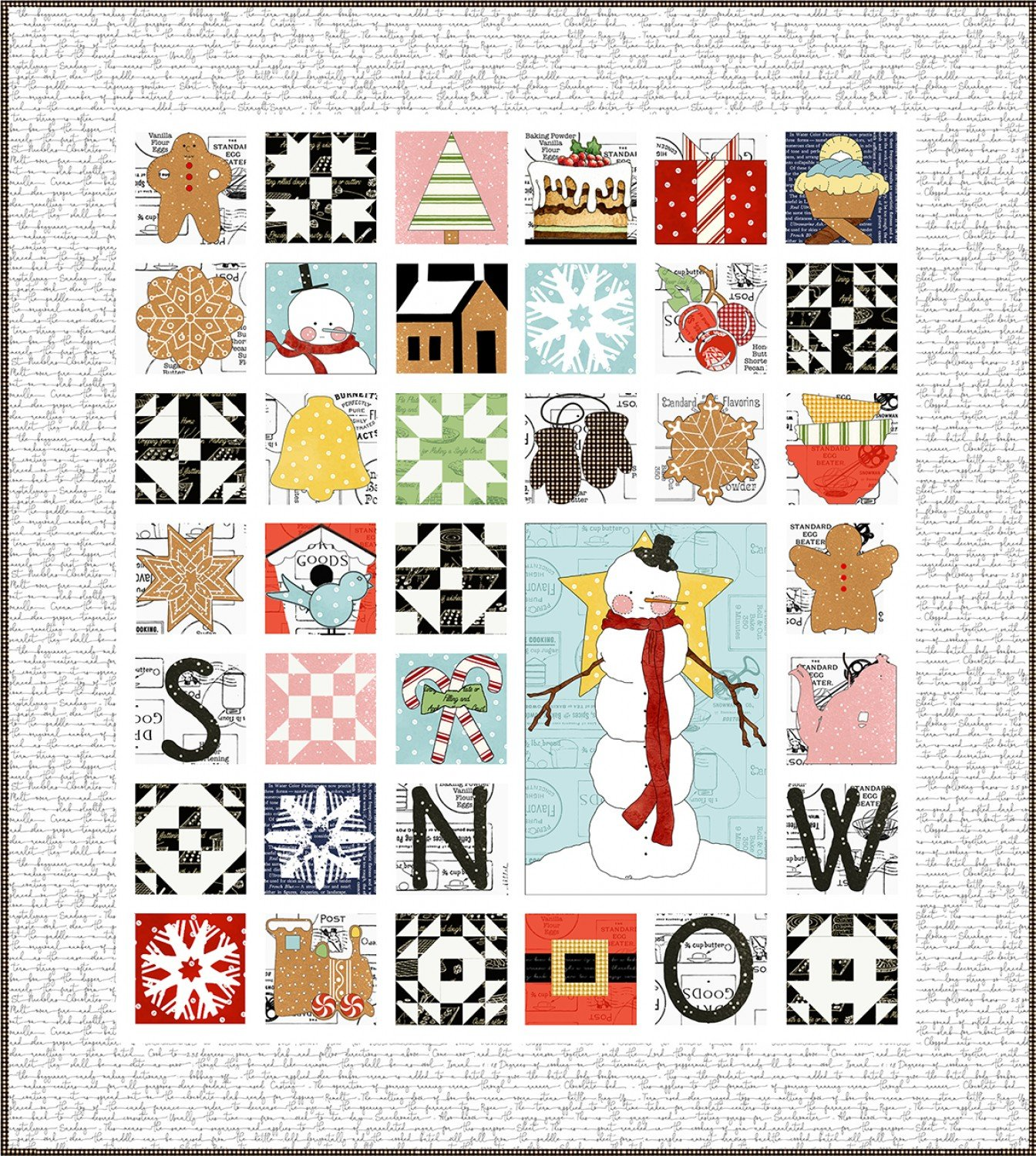 Sweet Snow Along Quilt Pattern