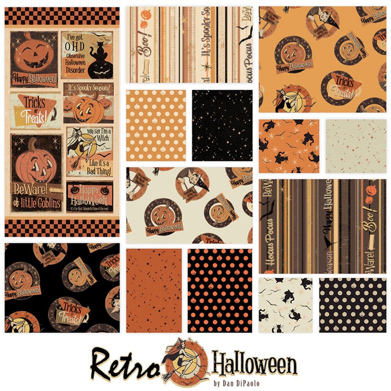 Retro Halloween Fat Quarter Bundle