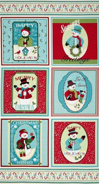 Happy Holidays Snowman Panel Small
