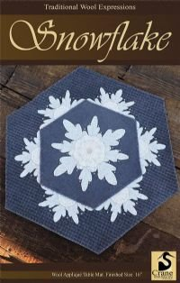 Snowflake Wool Applique Kit