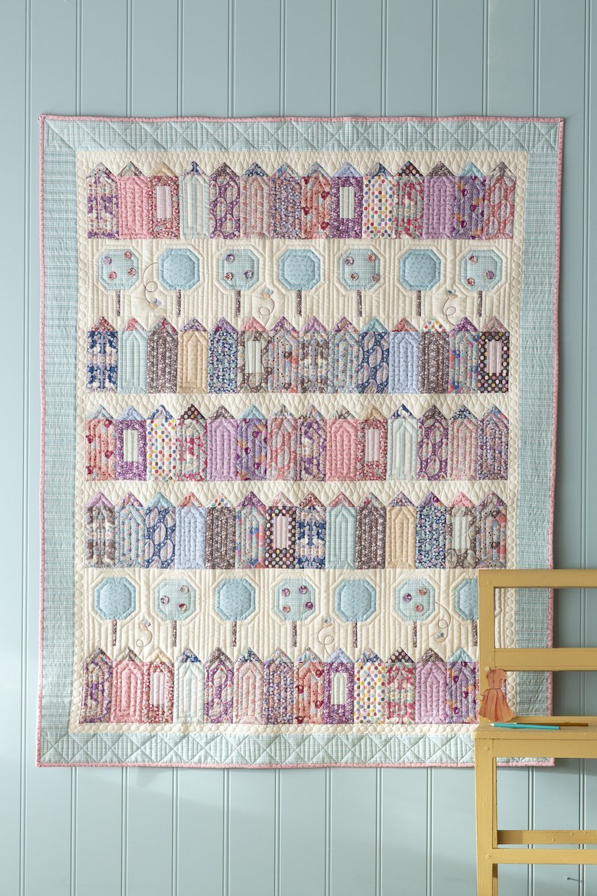 Plum Garden Village Quilt Kit