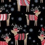 Reindeer in Sweaters - Black
