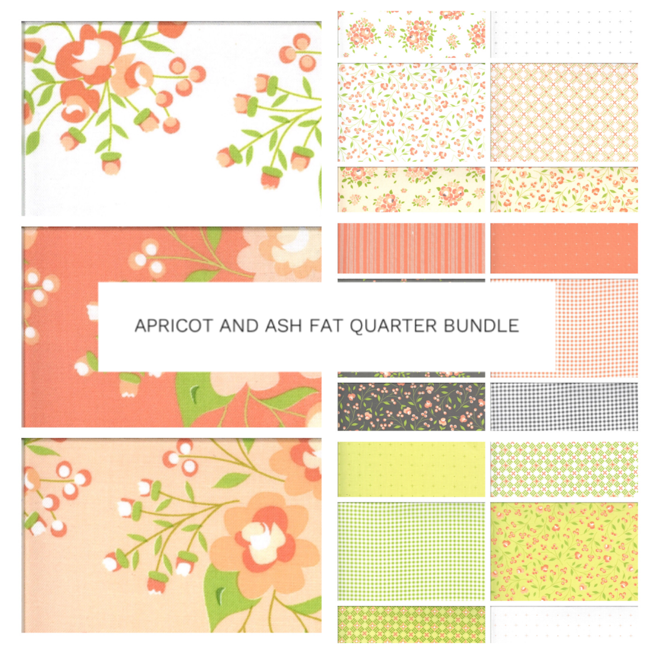 Apricot and Ash Fat Quarter Bundle