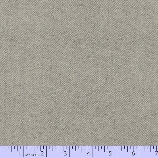 Primo Plaid Flannel - Tape Measure Grey Herringbone