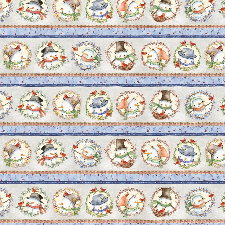 Winter Snowmen Wreaths - Multi Snowmen Border