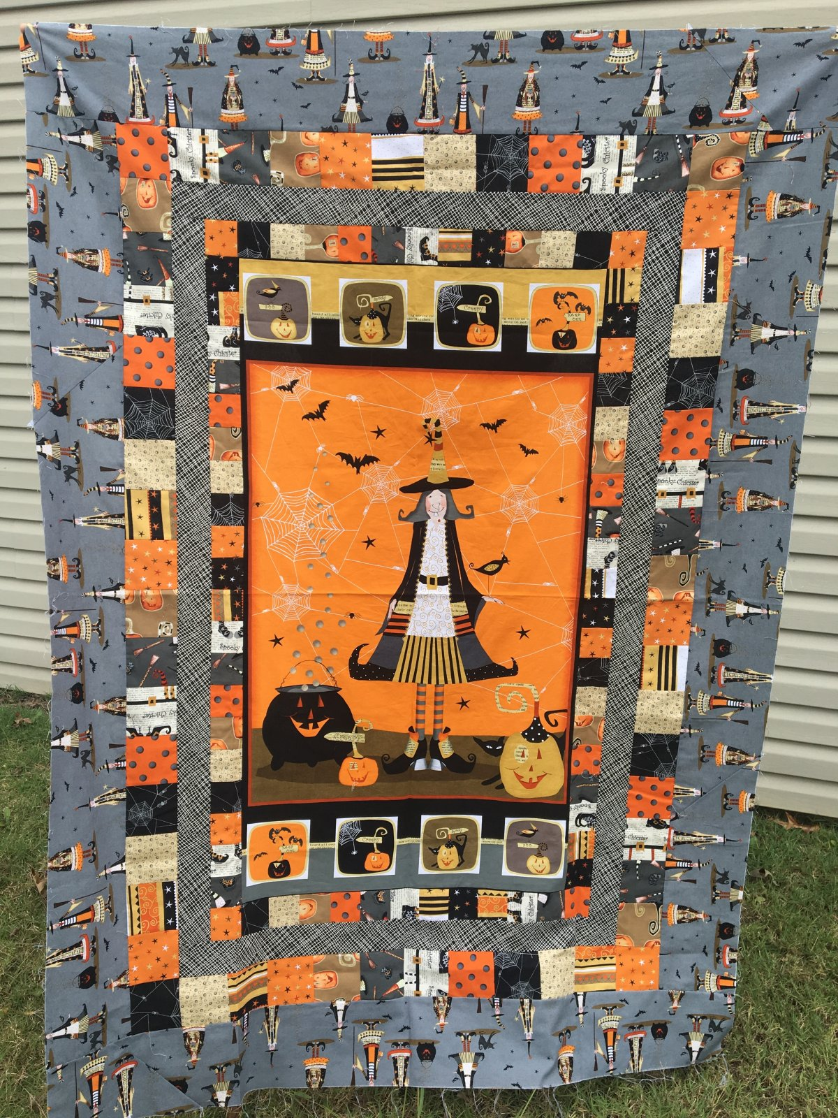 Witchy Patchwork Panel Quilt