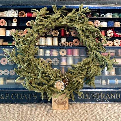 #358 O' Wooly Farmhouse Wreath Pattern