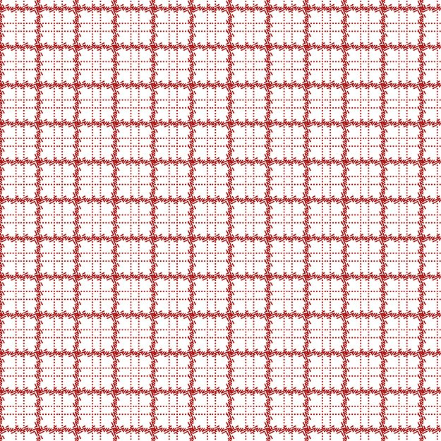 Red on White Plaid 8362-08