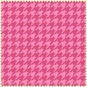 Merry & Bright Pink Houndstooth