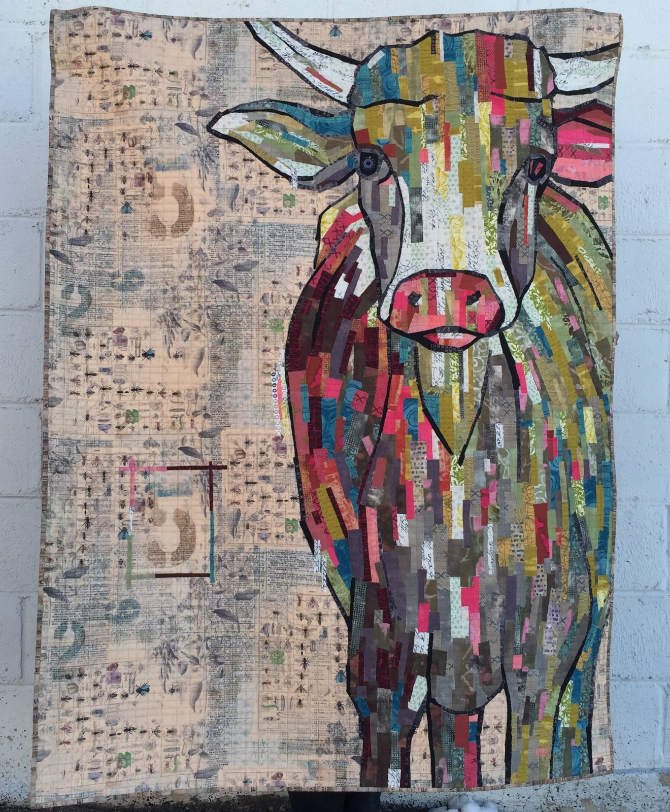 painterly collage quilts