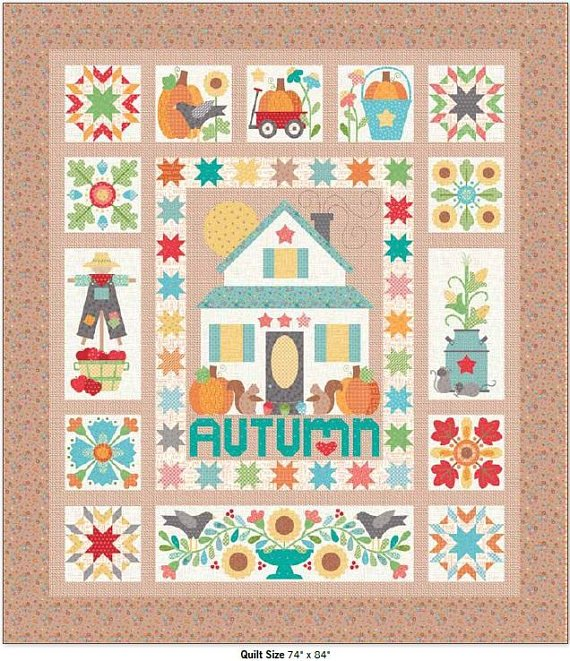 Autumn Love Quilt by Lori Holt Kit