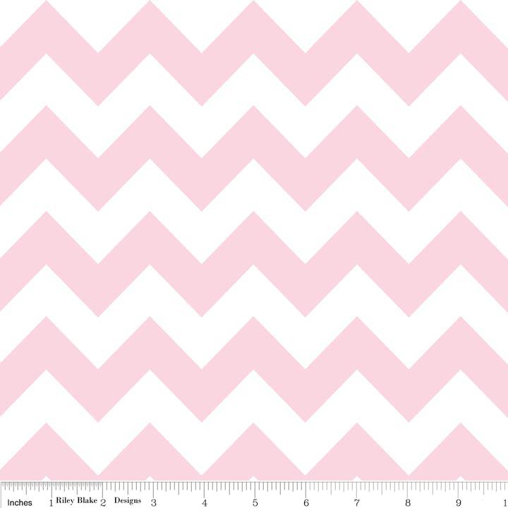 Medium Chevron Baby Pink