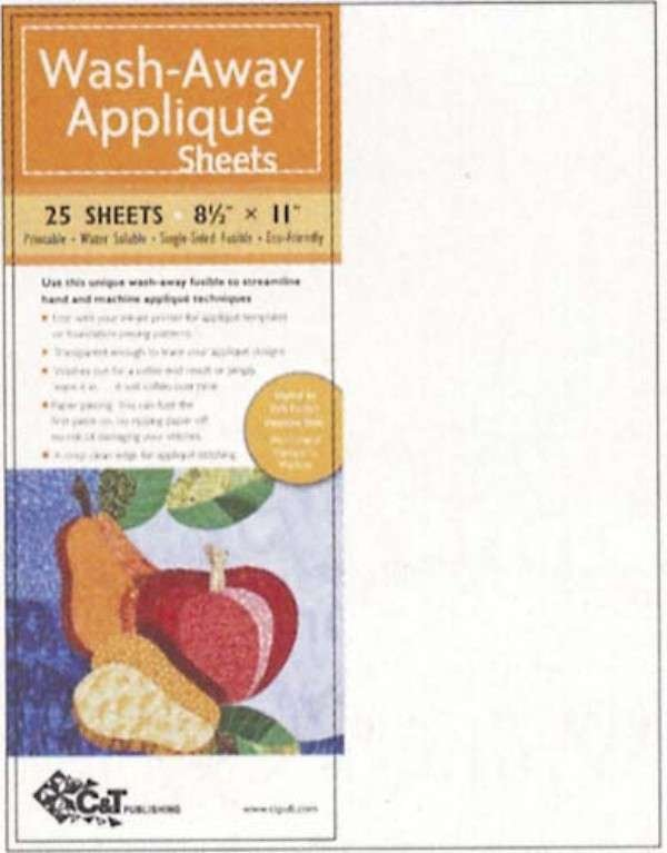 Wash Away Applique Sheets