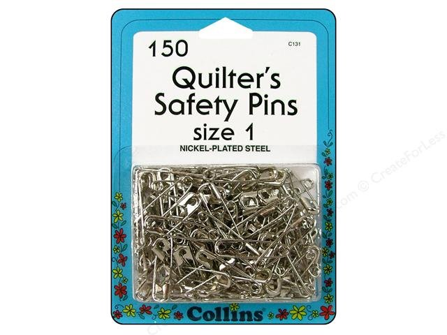 Quilter's Safety Pins- Size 1