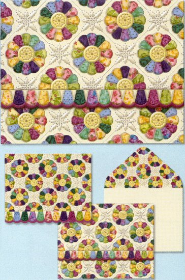 Quilter's Assortment-Note Cards-Plate