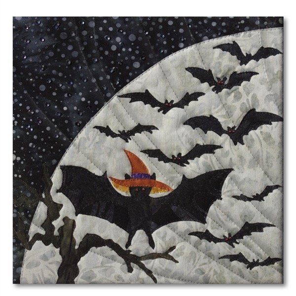 Halloweenies Quilt Block Two: Bat In The Hat & Finishing Kit