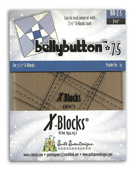 Bellybutton 7.5 Inch X-Blocks Template