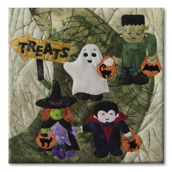 Halloweenies Quilt Block Nine: Ghoul Friends
