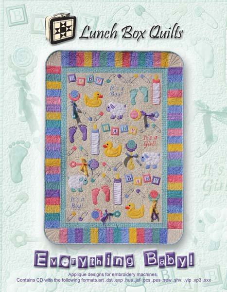 Everything Baby Quilt Pattern with Embroidery CD