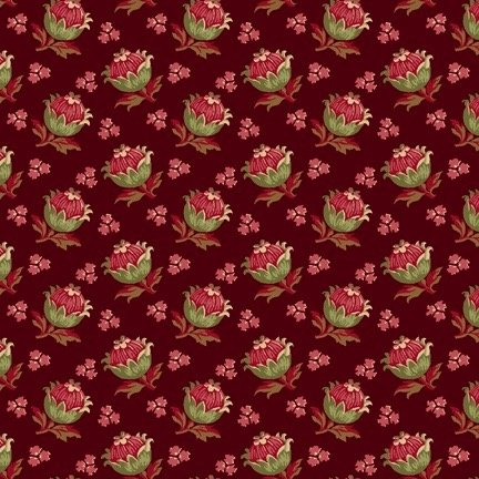 Bread & Butter Blossoms 98462-373 -Dark Red