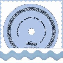 1/2 Inch Velvet Ric-Rac by the yard- Baby Blue