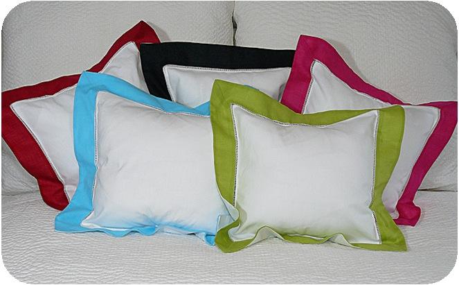 Border Pillowcase 12 x 12 - Black