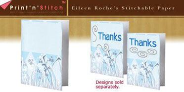 Blue Diamonds Print N Stitch Notecards