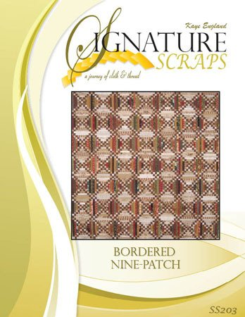 Signature Scraps Pattern- Bordered Nine-Patch