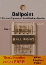 Klasse Needles- Ball Point 100/16