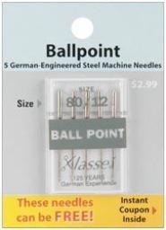 Klasse Needles- Ball Point 80/12